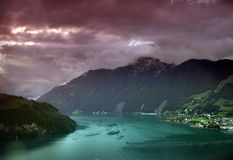 Swiss lake Royalty Free Stock Images