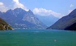 Swiss lake and Alps. Picturesque Europe Royalty Free Stock Images