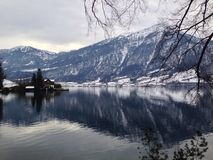 Swiss. Lake, natural, mountains Stock Image