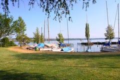 Swiss lake scene Stock Images