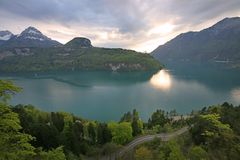 Swiss Lake Scene Royalty Free Stock Photos