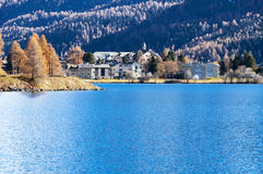 Swiss Lake Silvaplana, Royalty Free Stock Photography