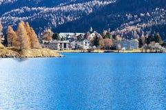 Swiss Lake Silvaplana, Royalty Free Stock Photography