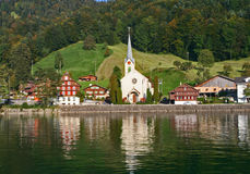 Swiss lake view Royalty Free Stock Photography