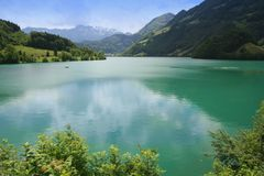 Swiss lake view Royalty Free Stock Images