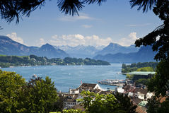 Swiss lake2. Lake of Luzern by summer Stock Photo