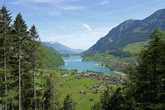 Swiss_landscape. Typical swiss landscape in summer Royalty Free Stock Photography