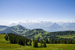 Swiss_landscape. Typical swiss landscape in summer Royalty Free Stock Photo