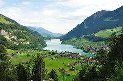 Swiss Landscape at the foot of Alps Stock Image