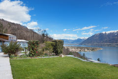 Swiss landscape: garden Royalty Free Stock Photos