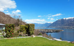 Swiss landscape: garden Royalty Free Stock Images