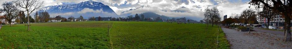 Swiss landscape of Hhematte, Interlaken, Switzerland Royalty Free Stock Photography