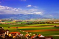 Swiss landscape at springtime Stock Image