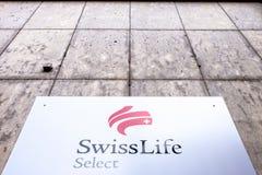 Swiss Life ausgewählt Stockfotografie