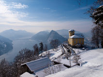 Old restaurant on the top of Monte Bré Royalty Free Stock Photo