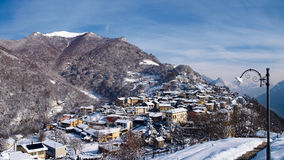 Swiss - Lugano, the panorama on the Village Bré Royalty Free Stock Photo