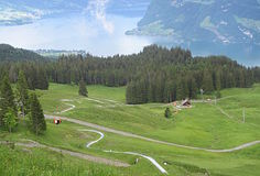 Swiss Luge Royalty Free Stock Image