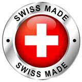 Swiss made icon. Illustration of swiss made icon on white background royalty free illustration