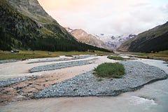Swiss magic sunset royalty free stock photo