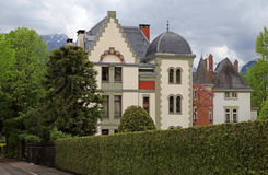 Swiss mansion Royalty Free Stock Images