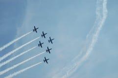 Swiss Military Airshow - Patrouille de Suisse Stock Image