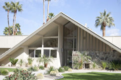 Swiss Miss House. Front of Swiss Miss house in Palm Springs, California Royalty Free Stock Photo