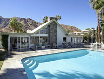Swiss Miss House Pool. In Palm Springs, California Royalty Free Stock Photos
