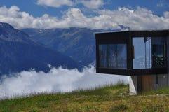 Swiss Modern Architecture. Belalp, Valais, Switzerland. Royalty Free Stock Images