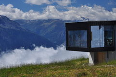 Swiss modern architecture. Belalp, Valais, Switzerland. Royalty Free Stock Images