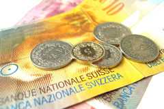 Swiss money royalty free stock photos