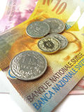Swiss money stock images