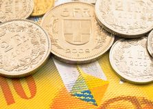 Swiss money. Stock Images