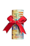Swiss money gift Royalty Free Stock Image