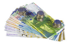 Swiss Money, Isolated Royalty Free Stock Photo