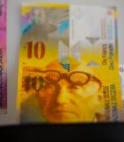 Swiss money Stock Photos