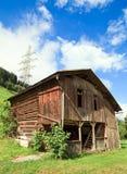 Swiss Mountain Barn Stock Photo