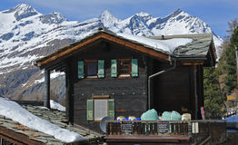 Swiss mountain chalet Royalty Free Stock Image