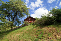 Swiss Mountain Home Stock Photography