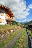 Swiss Mountain Home Stock Photo