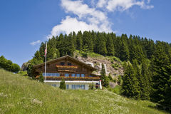Swiss mountain house Royalty Free Stock Photo