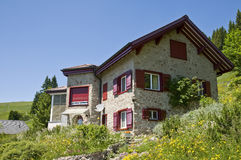 Swiss mountain house Royalty Free Stock Photography