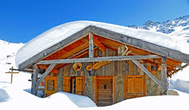 Swiss mountain hut Royalty Free Stock Photography