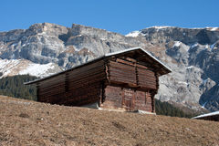 Swiss mountain hut Royalty Free Stock Images