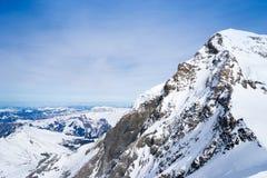 Swiss mountain, Jungfrau, Switzerland, ski resort Stock Images