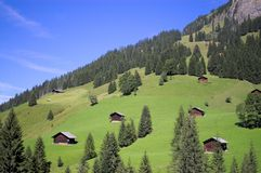 Swiss mountain landscape Stock Images