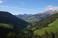 Swiss mountain landscape Royalty Free Stock Photos