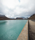 Swiss mountain landscape with dam, nobody inside Royalty Free Stock Photography