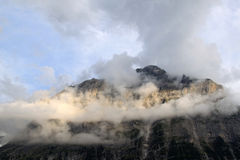 The Swiss mountain Mattenberg in sun and clouds Stock Photography