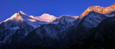 Free Swiss Mountain Panorama Near Grachen During Sunrise Valais, Switzerland Stock Photos - 126820243