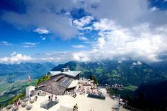 Swiss Mountain Peak Stock Photo